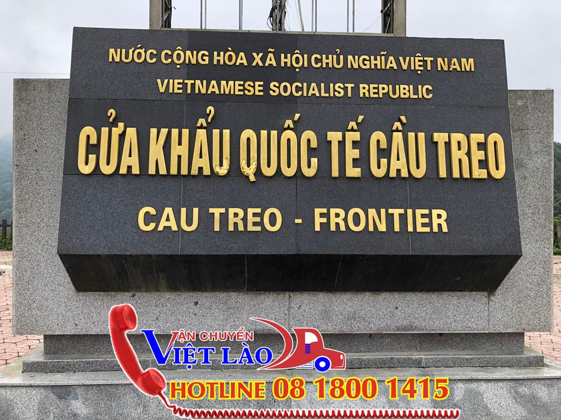 Vận chuyển hàng đi Lào qua cửa khẩu cầu treo