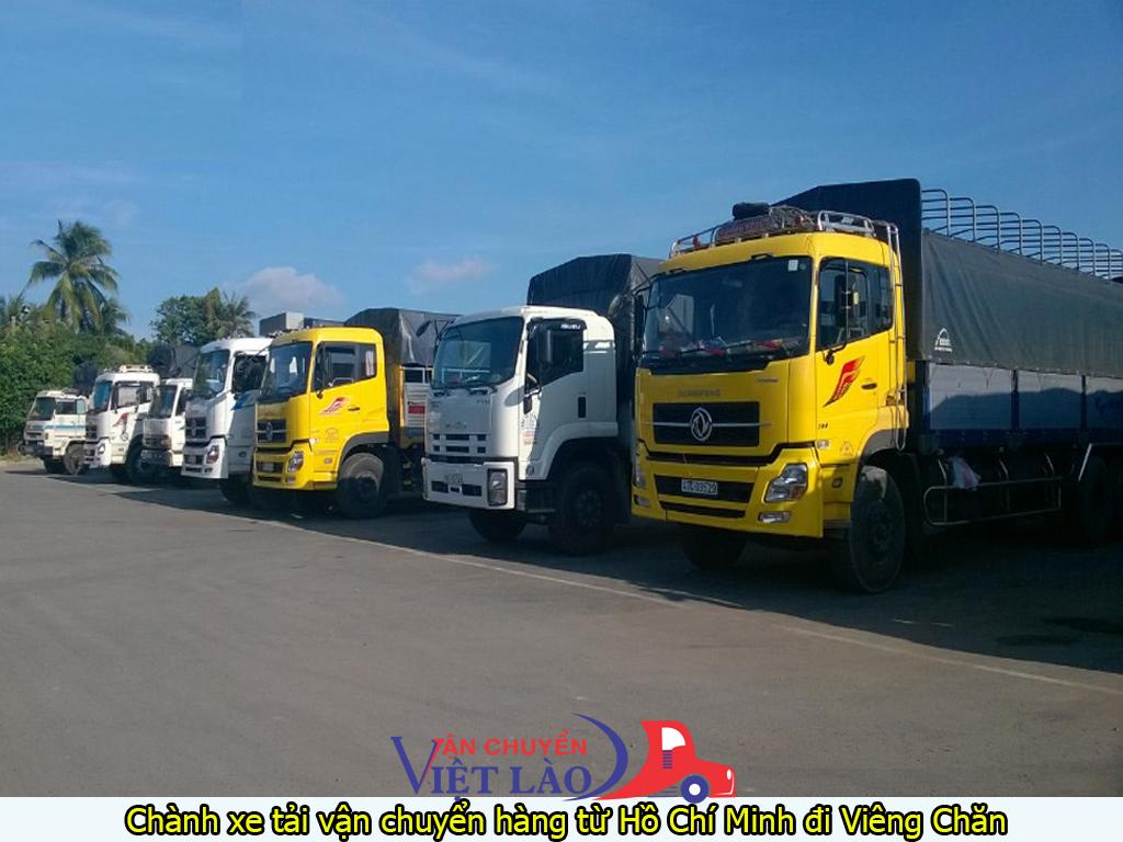 Chành xe tải vận chuyển hàng từ hồ chí minh đi viêng chăn