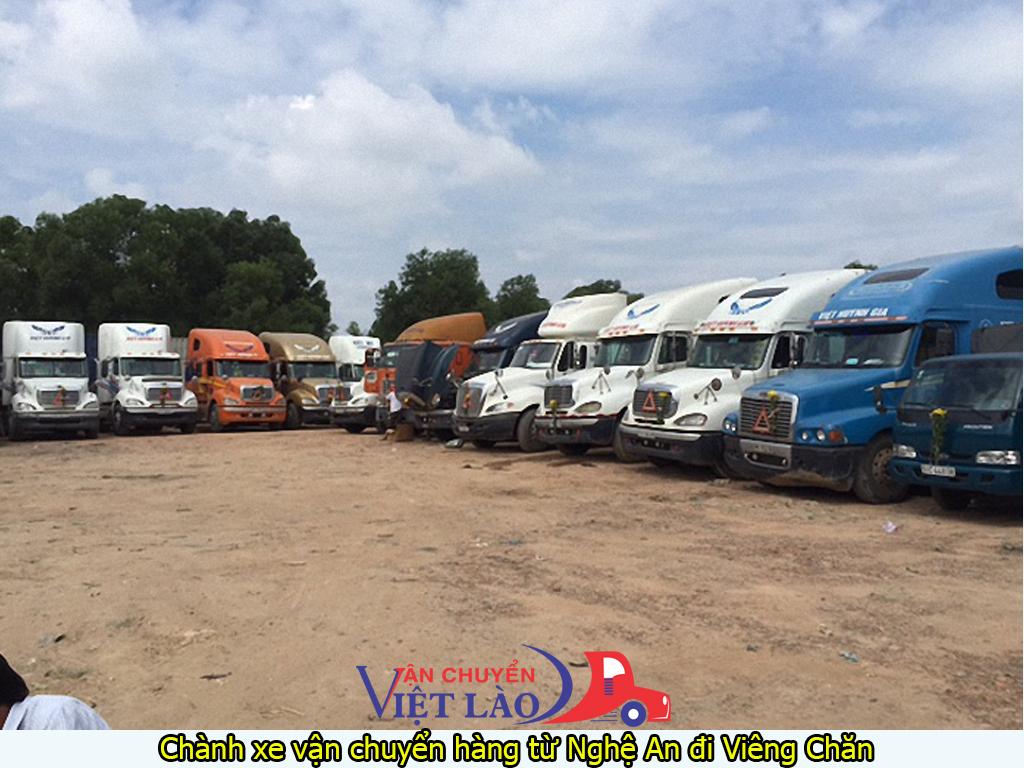 Chành xe vận chuyển hàng từ Nghệ An đi Viêng Chăn