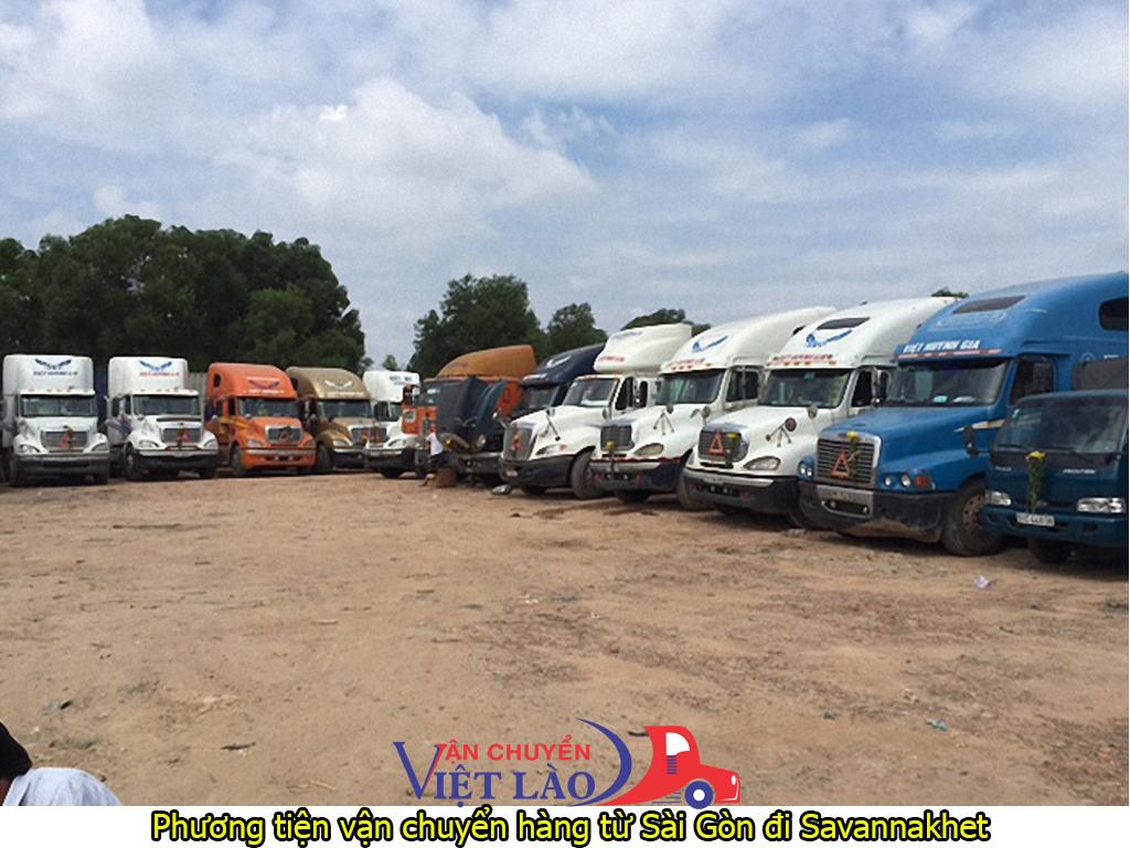 Phương tiện vận chuyển hàng từ Sài Gòn đi Savannakhet