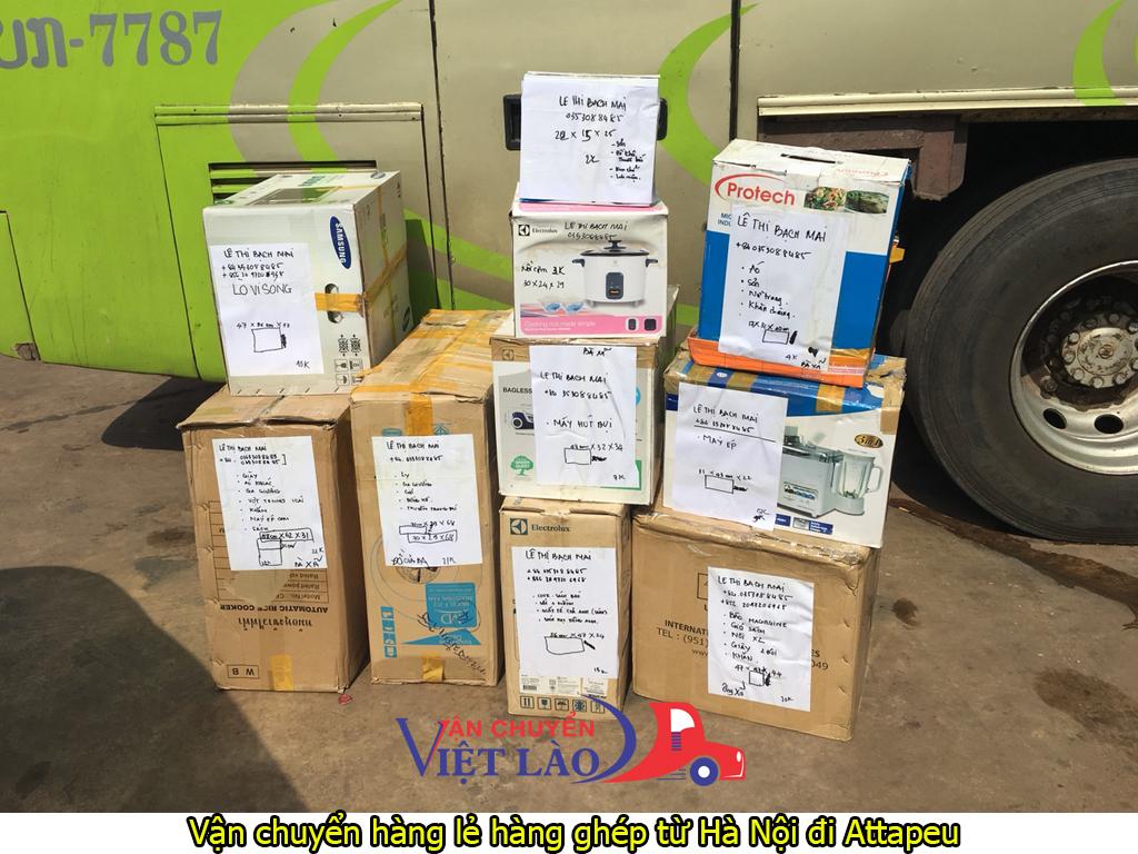 vận chuyển hàng lẻ hàng ghép từ Hà Nội đi Attapeu