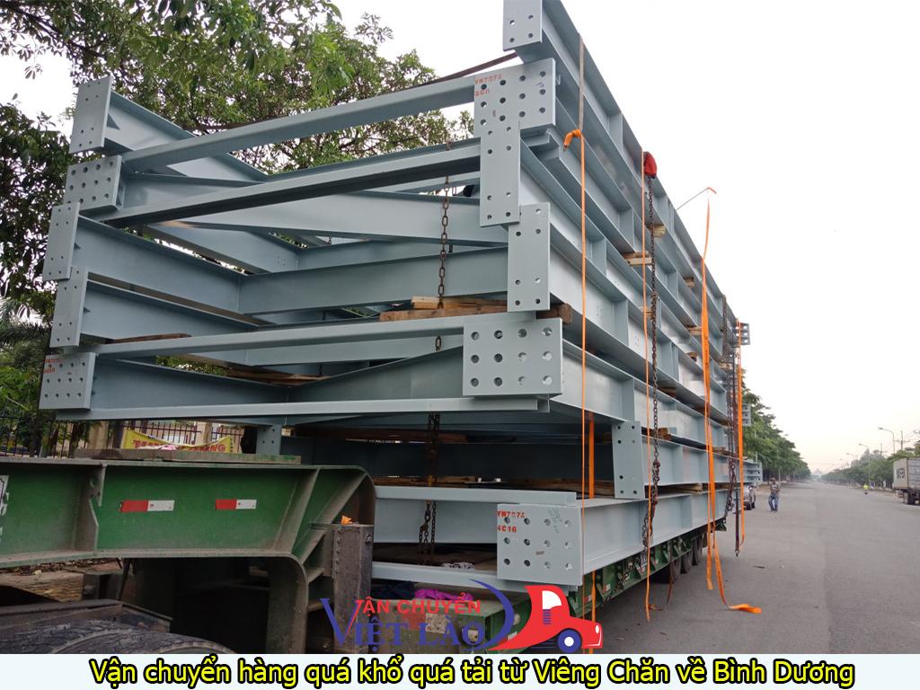 vận chuyển hàng quá khổ quá tải từ Viêng Chăn về Bình Dương