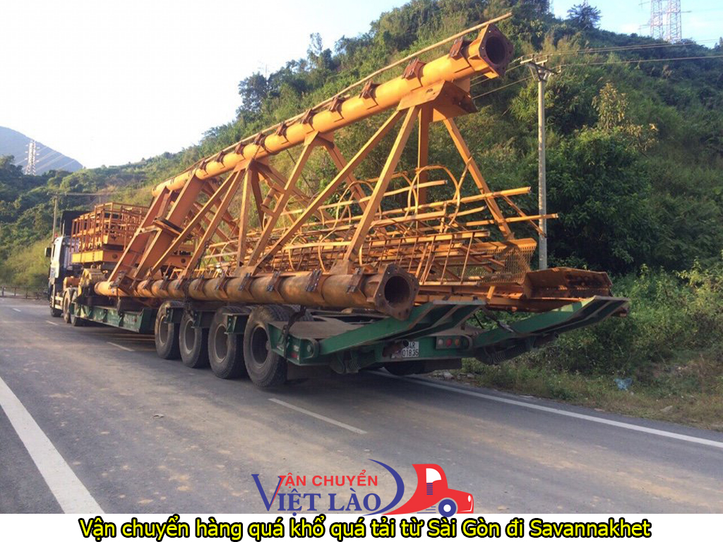 vận chuyển hàng quá khổ quá tải từ sài gòn đi savannakhet