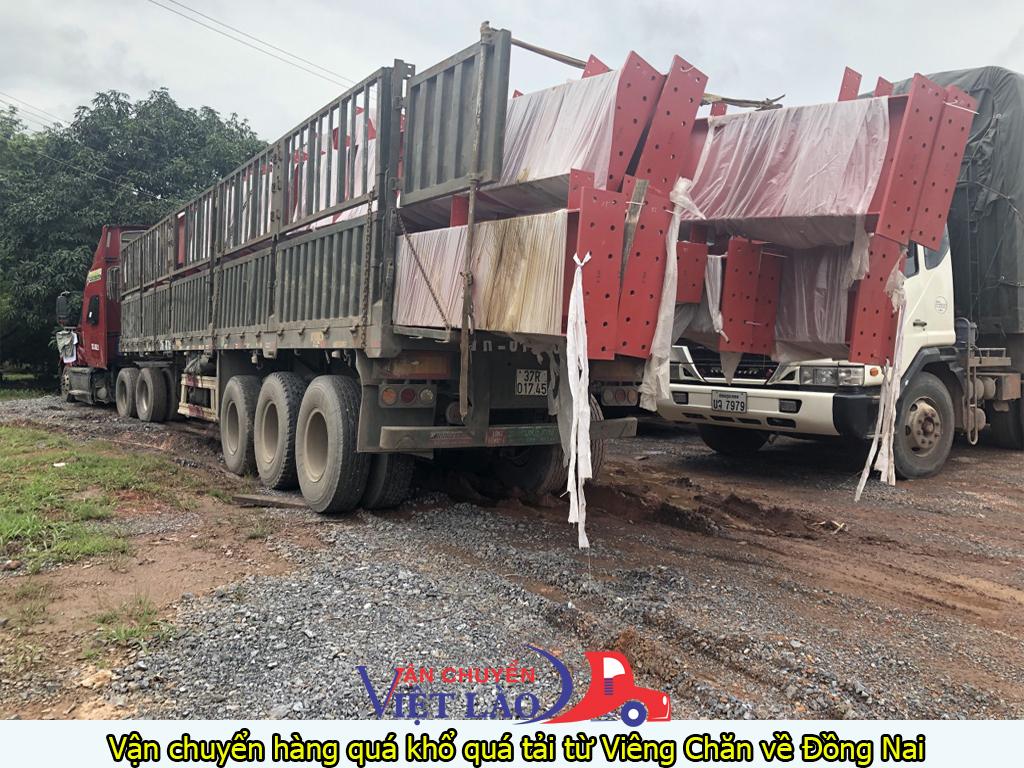 vận chuyển hàng quá khổ quá tải từ viêng chăn về Đồng Nai