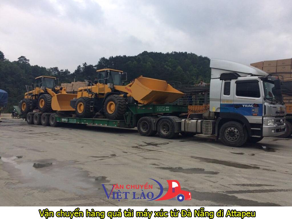 Vận chuyển hàng quá tải máy xúc từ Đà Nẵng đi Attapeu