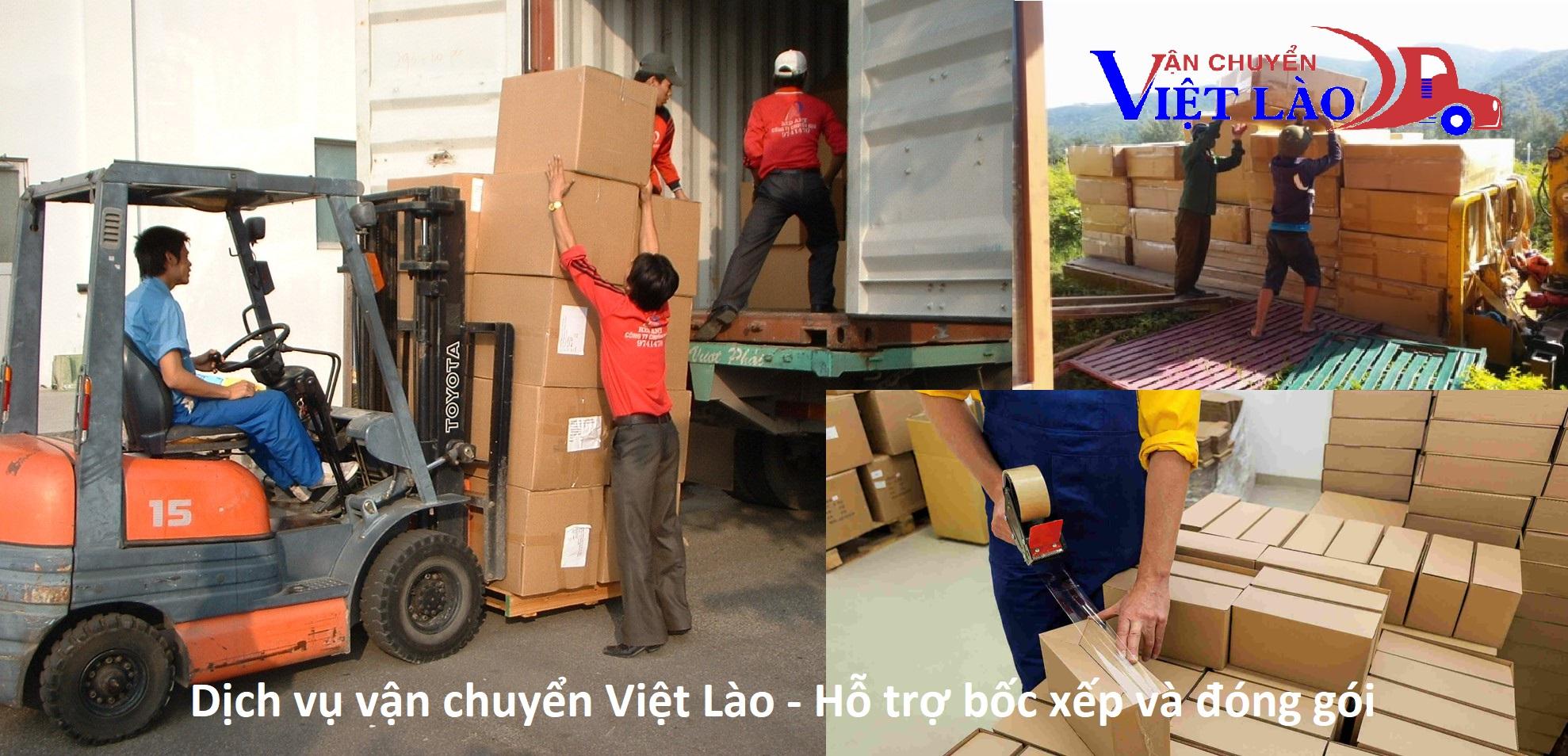 Hỗ trợ bốc xếp, đóng gói hàng hóa đi Lào