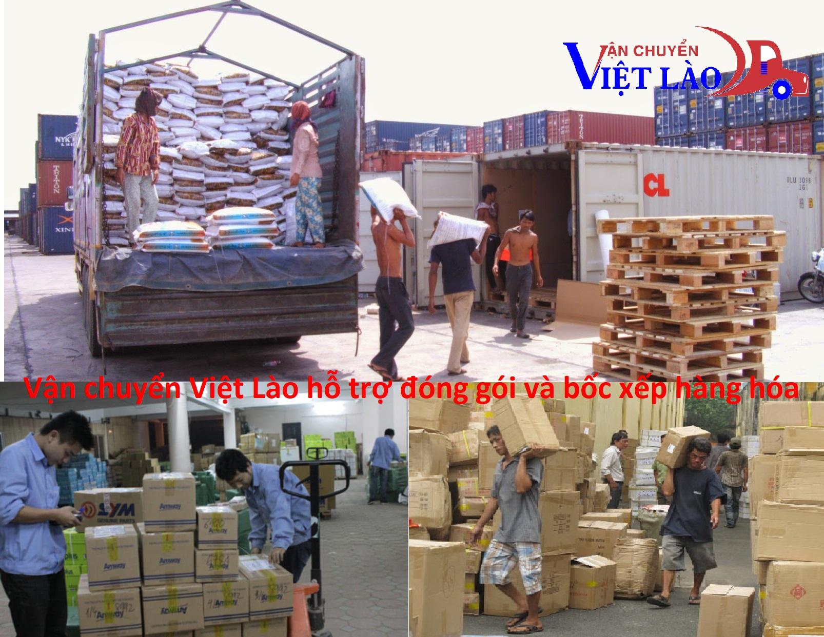 Hỗ trợ bốc xếp & đóng gói hàng hóa đi Lào
