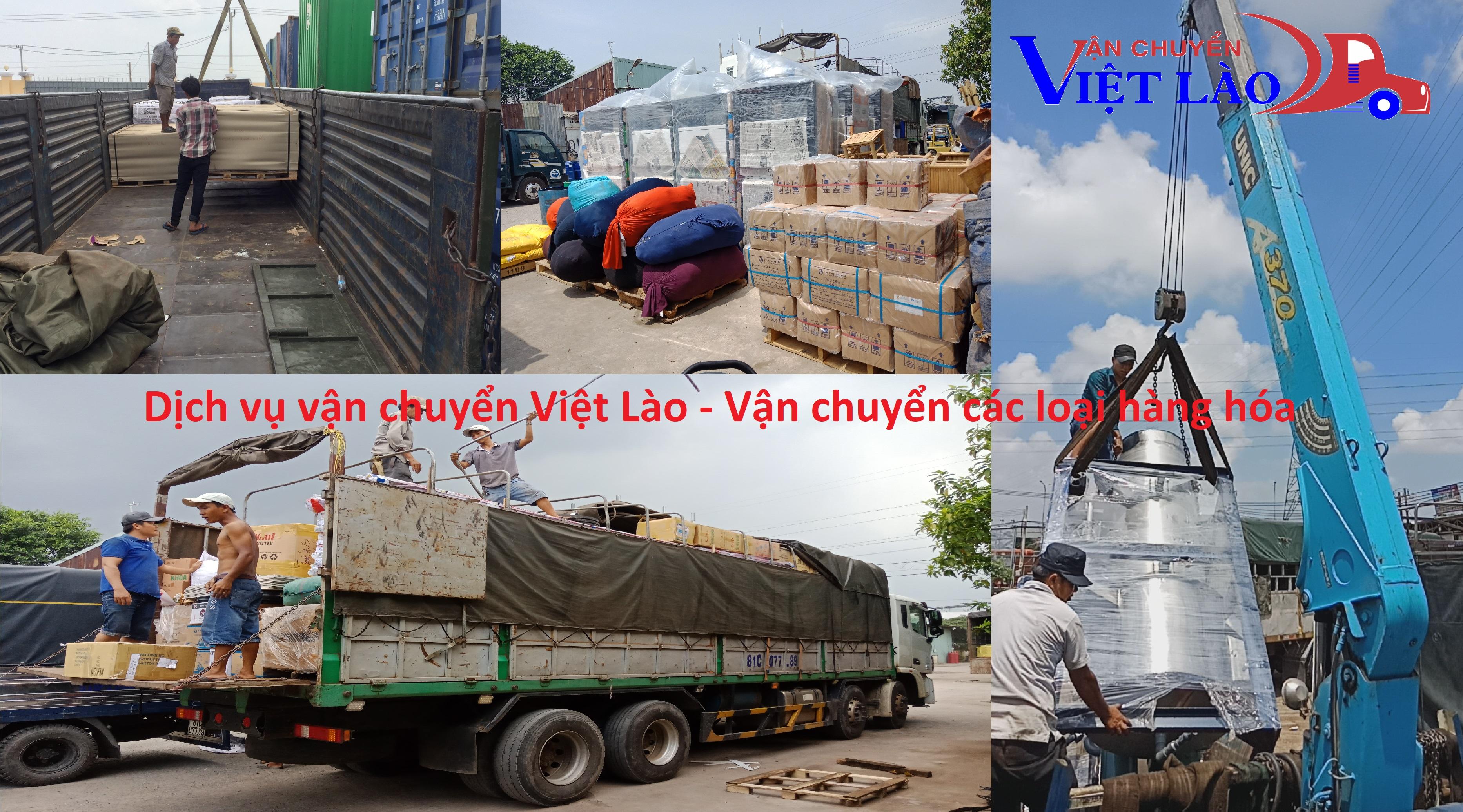 Vận chuyển nhiều loại hàng hóa đi Lào