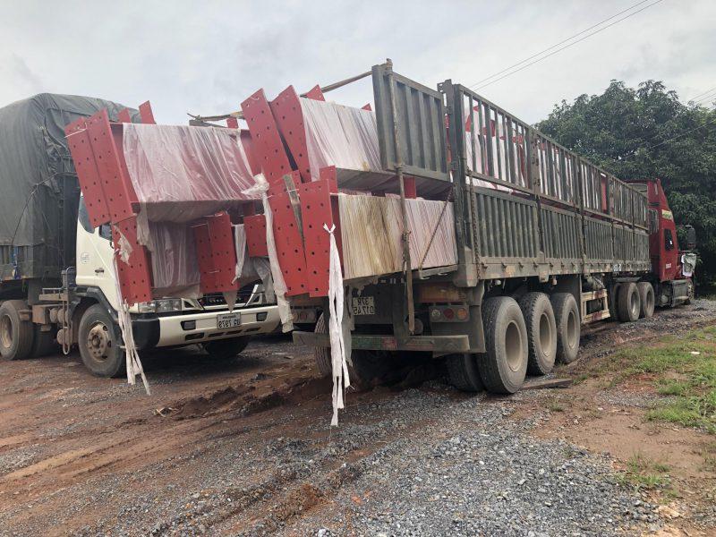 Vận chuyển kết cấu thép đi Lào