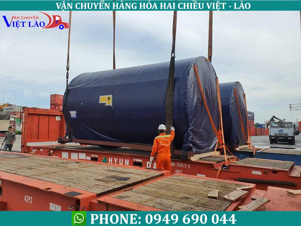 Vận chuyển hàng từ Đà nẵng đi Lào bằng mooc thùng